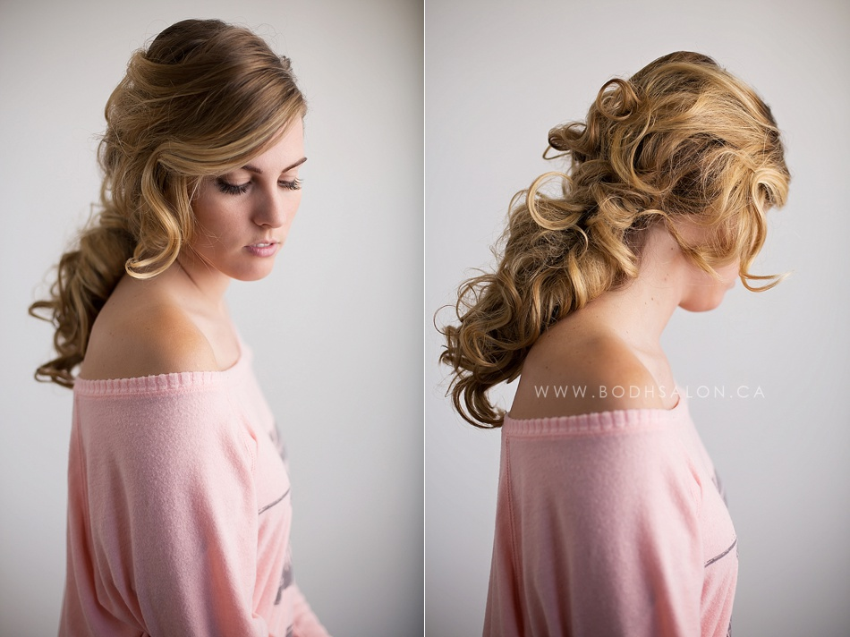 Curled Ponytail - © Bodh Salon & Photography - Guelph hairstylist specializing in wedding hair and updos - www.bodhsalon.ca